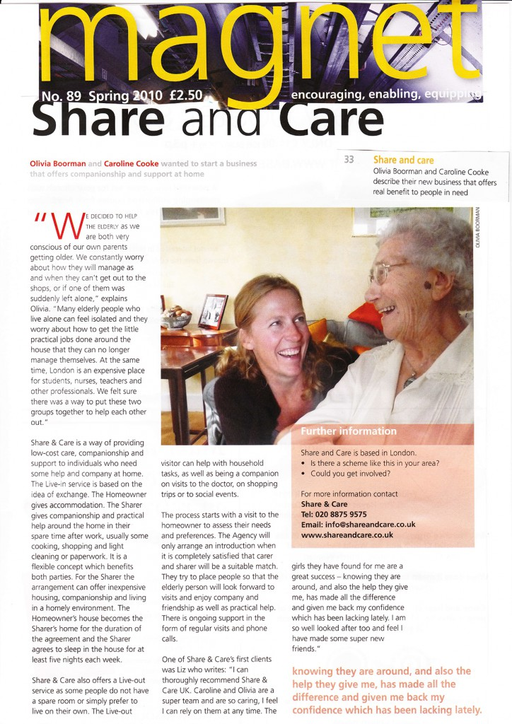 Share & Care in Magnet Magazine